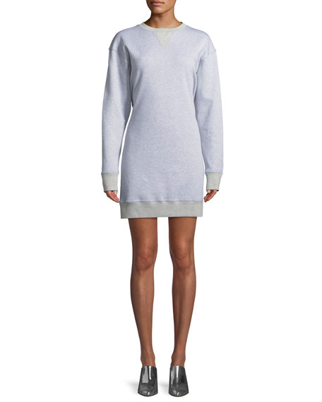 Easy Open-Back Crewneck Sweatshirt Dress
