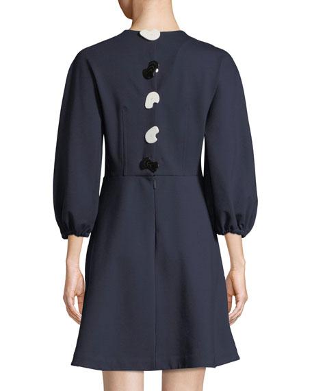 Bond Stretch Sculpted Button-Back Mini Dress