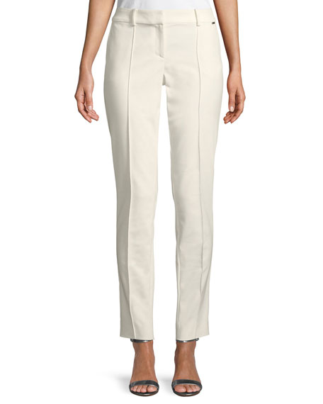 Stretch Micro Ottoman Pintuck Pants