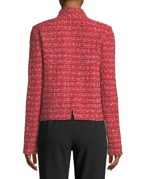 Inlay Boucle Stripe Knit Jacket