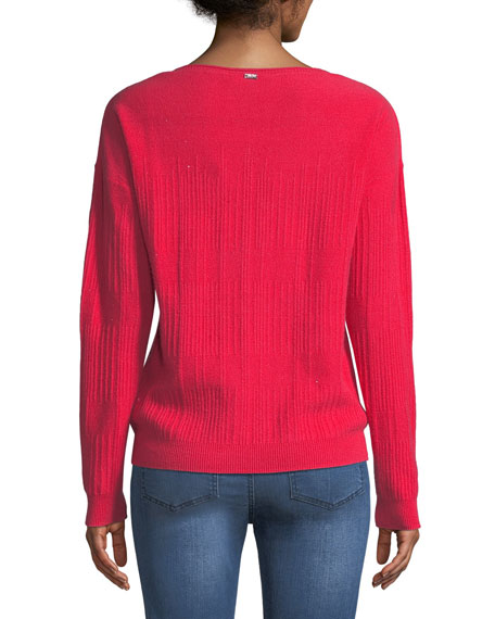 Cashmere Wool-Blend Ribbed Sweater