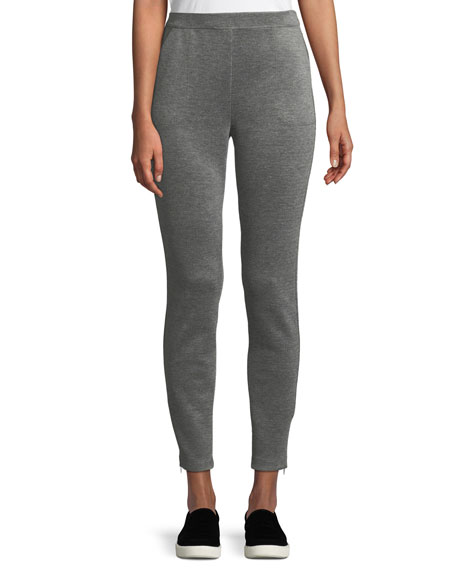Birdseye Double-Knit Cropped Pants