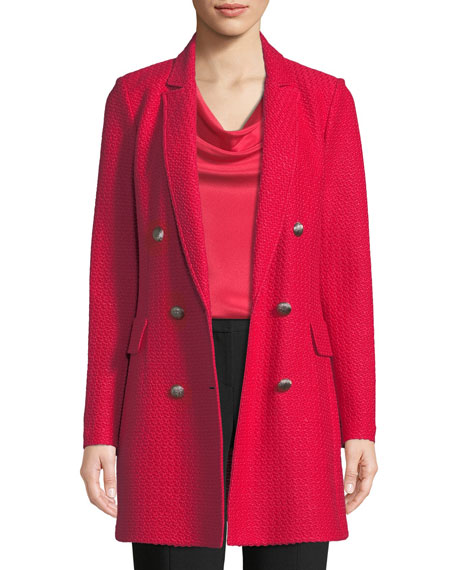 St. John Collection Adina Fitted Double-Breasted Blazer