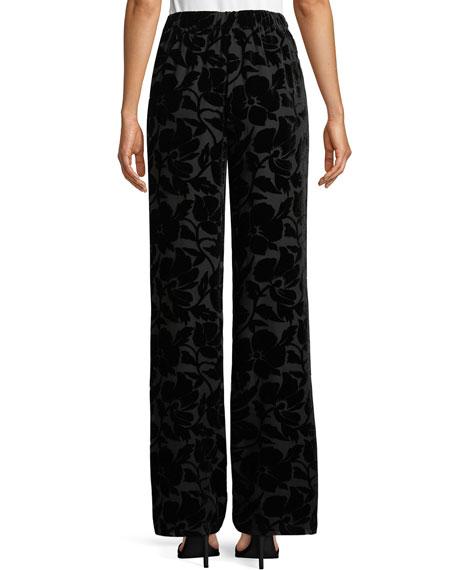 Velvet Floral Burnout Pants