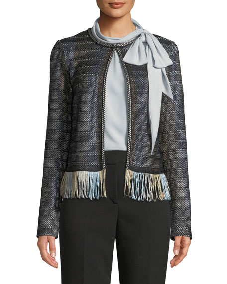 St. John Collection Bella Double-Weave Pants and Matching