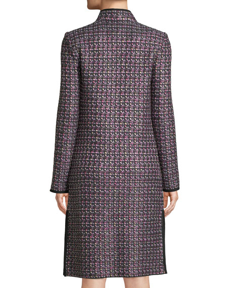 Painterly Sheen Tweed Knit Jacket