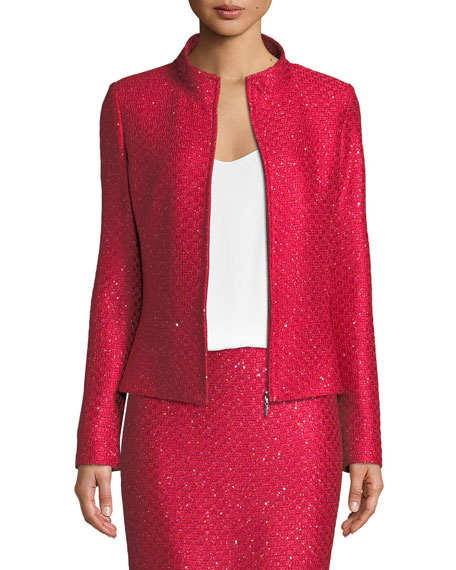 Shimmer Sequin Knit Jacket