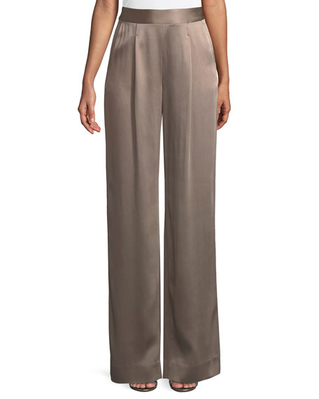 St. John Collection Liquid Crepe Pants w/ Pleats