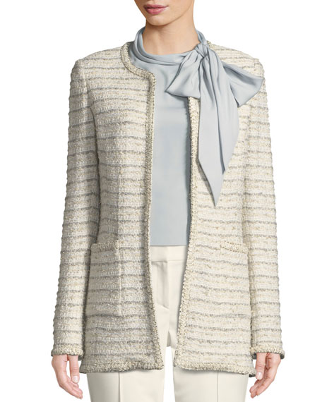 Blended Boucle Knit Jacket