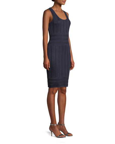 Gossamer Illusion Knit Cocktail Dress