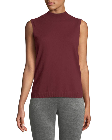Mock-Neck Cashmere Shell