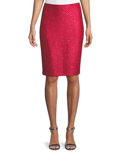 Shimmer Sequin Knit Skirt