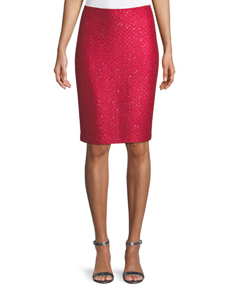 Shimmer Sequin Knit Skirt