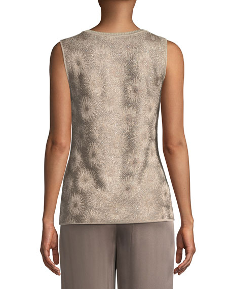 Stellar Gaze Jacquard Knit Shell