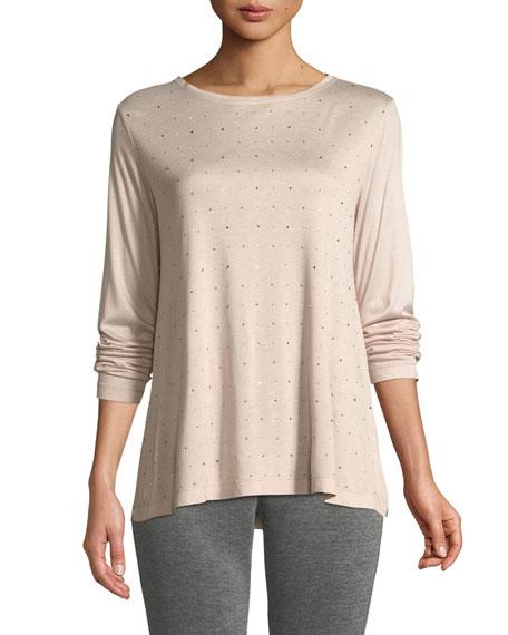 St. John Collection Sleek Jersey Long-Sleeve T-Shirt w/