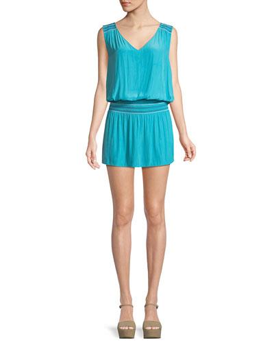 Dany Smocked Blouson Mini Dress