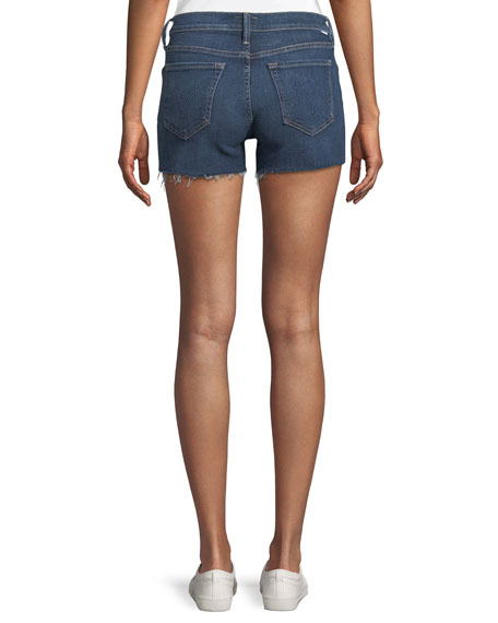 Charmer Frayed Denim Shorts