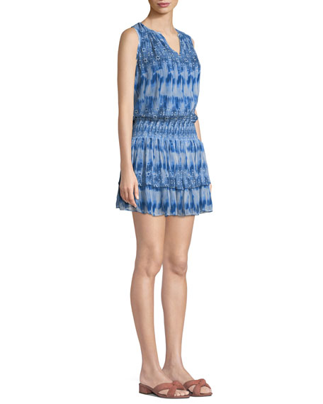 Jordana Printed Sleeveless Mini Dress