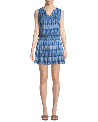 Jordana Printed Sleeveless Mini Dress