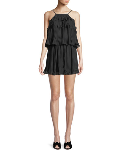 Shauna High-Neck Sleeveless Midi Dress