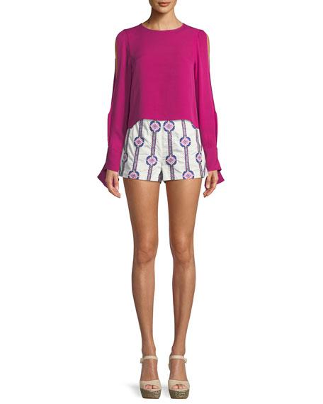 Jayde Printed Cotton Shorts