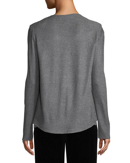 Metallic Plaited Knit Cardigan w/ Sequins
