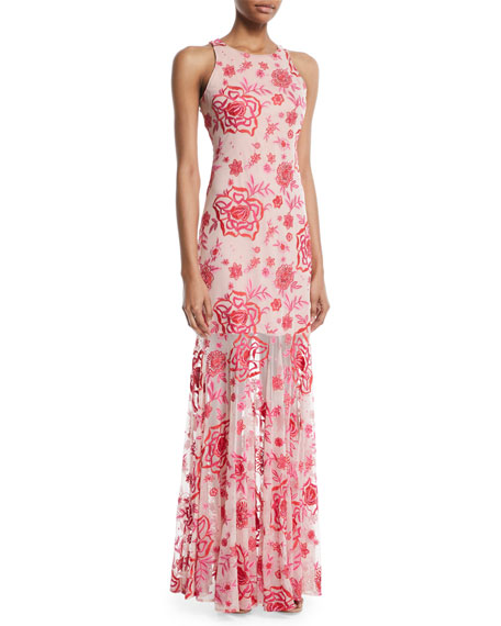 Ava Floral Sleeveless Gown