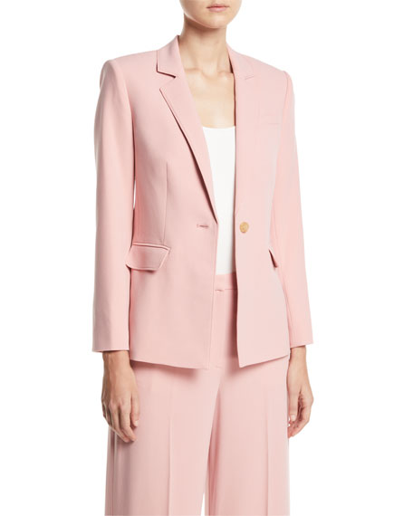 Carson One-Button Blazer