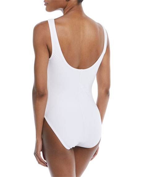 Viviana Silent Underwire Lace-Up One-Piece Swimsuit