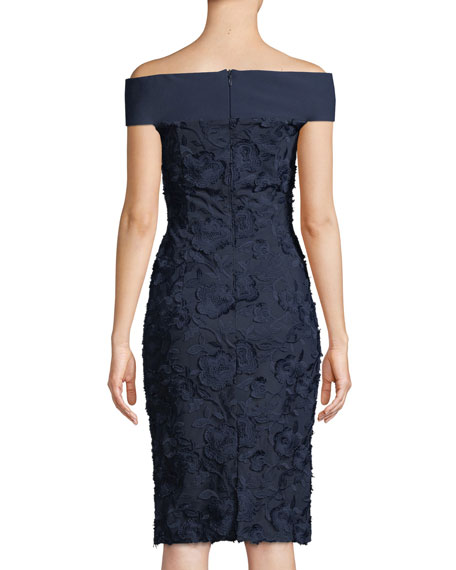 Leone Off-the-Shoulder Lace Dress