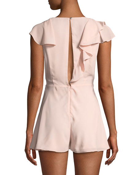 The Piero Ruffled Plunging Romper