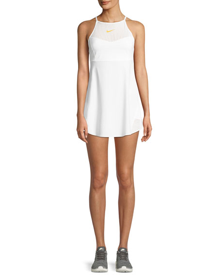 Maria Mesh Tennis Dress in White