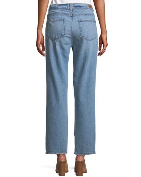 Noella Distressed Straight-Leg Jeans