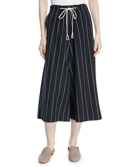 Vince Striped Drawstring Side-Slit Culottes and Matching Items