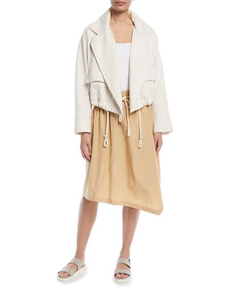 Belted Handkerchief Knee-Length Skirt