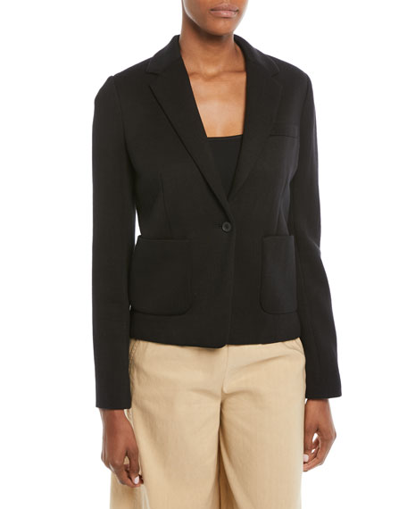 Patch-Pocket One-Button Blazer