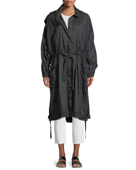 Hooded Zip-Front Raincoat
