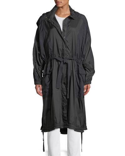 Hooded Zip-Front Raincoat
