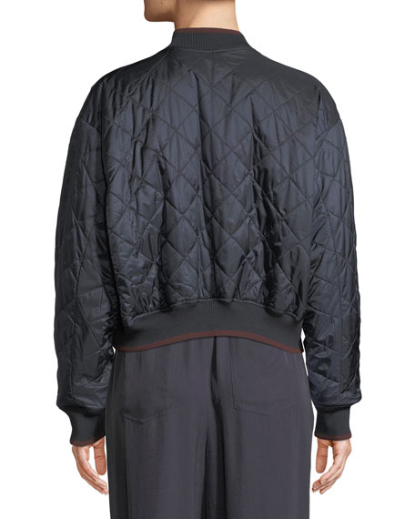 Reversible Zip-Front Bomber Jacket