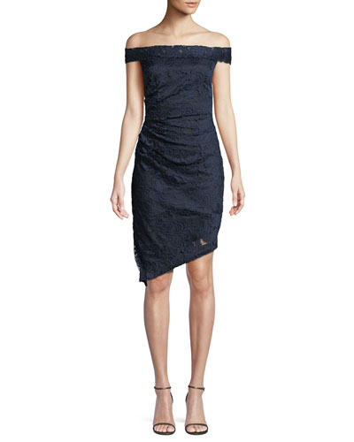 Ally Off-the-Shoulder Stretch Lace Dress