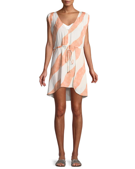 Vix Agatha Striped Caftan Coverup