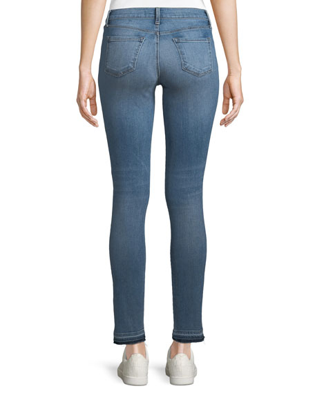 811 Mid-Rise Skinny Jeans with Released Hem, Delphi