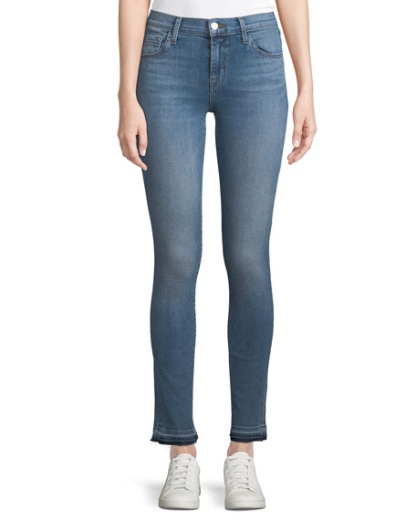 J Brand 811 Mid-Rise Skinny-Leg Jeans with Released