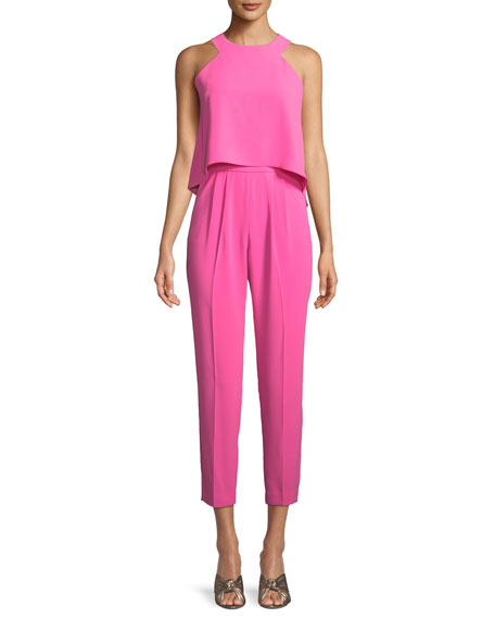 Kaitlyn Crepe Popover Jumpsuit