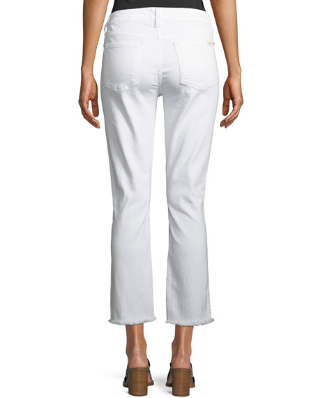 Straight-Leg Cropped Jeans with Raw Hem