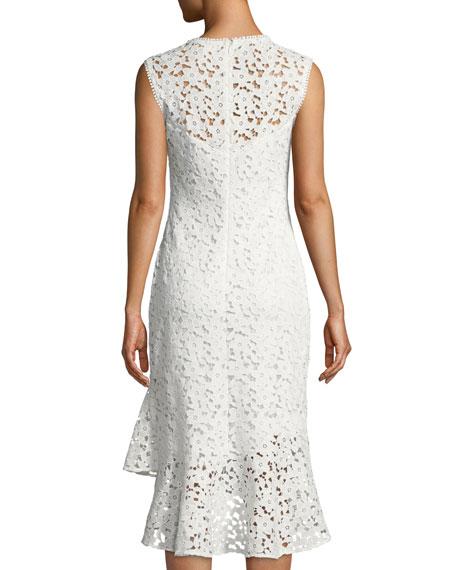 Carlita Sleeveless Asymmetric Lace Dress