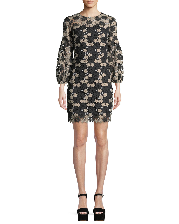 Vina Floral Lace Mini Dress