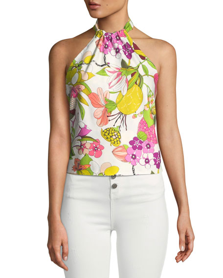 Tamika Top Secret Garden Halter Top