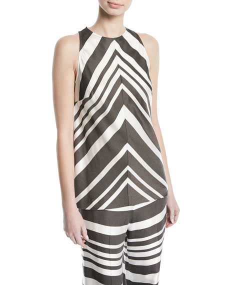 Trina Turk Bree Parasol Striped Tank Top