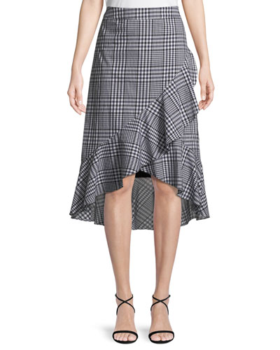 Nikita Picnic Plaid Wrap Ruffle Skirt